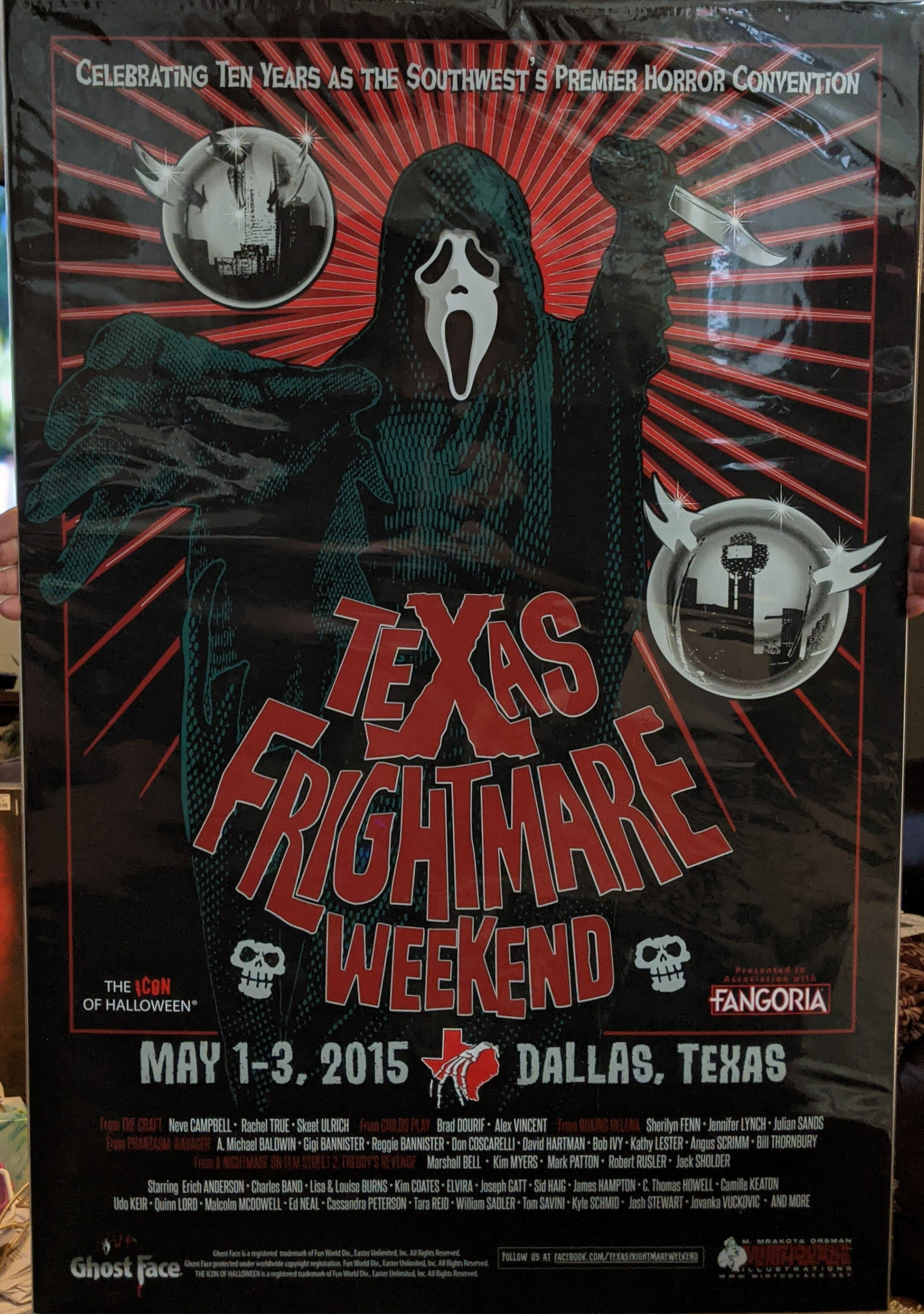Texas Frightmare Weekend 2015 Ghost Face Poster