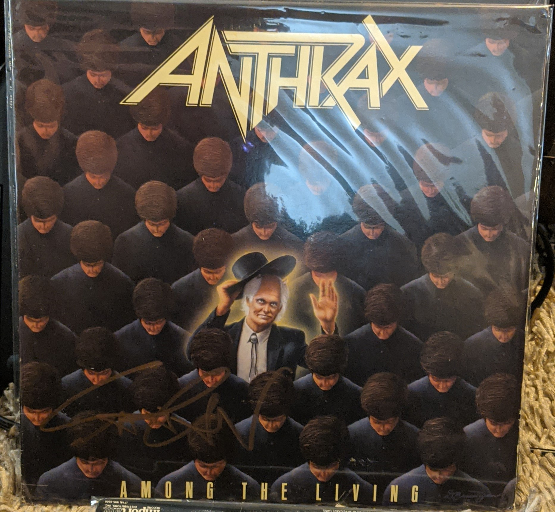 Anthrax - Among the Living Autographed
