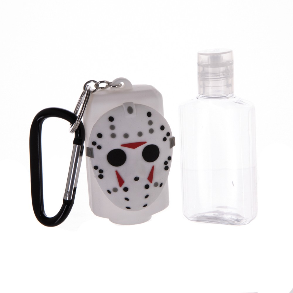 Friday the 13th Mask Rubber Sanitizer Bottle Keychain