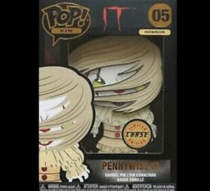 Pennywise (with Wig) Chase Horror Large Enamel Pop! Pin