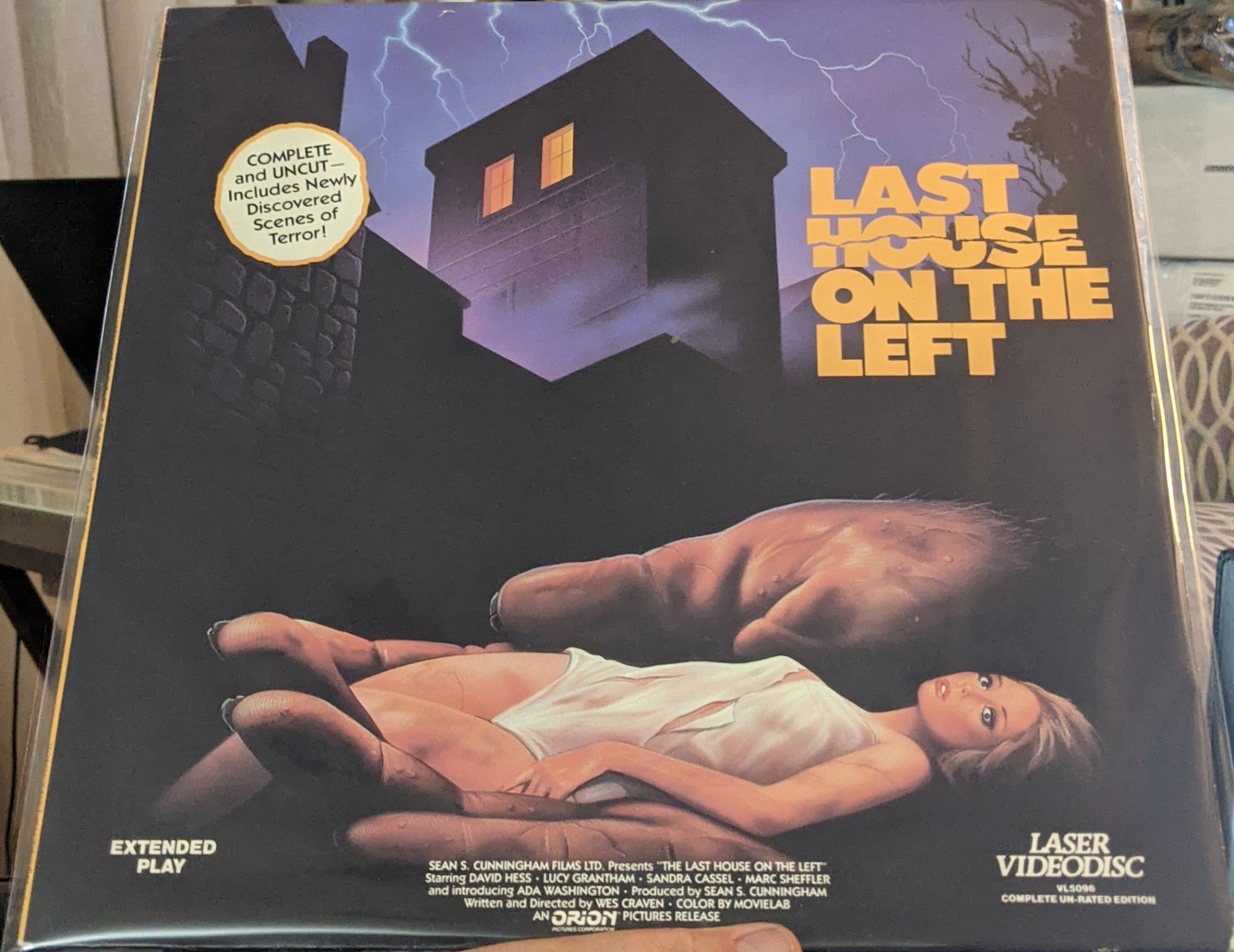 Last House on the Left Laserdisc (Pre owned)