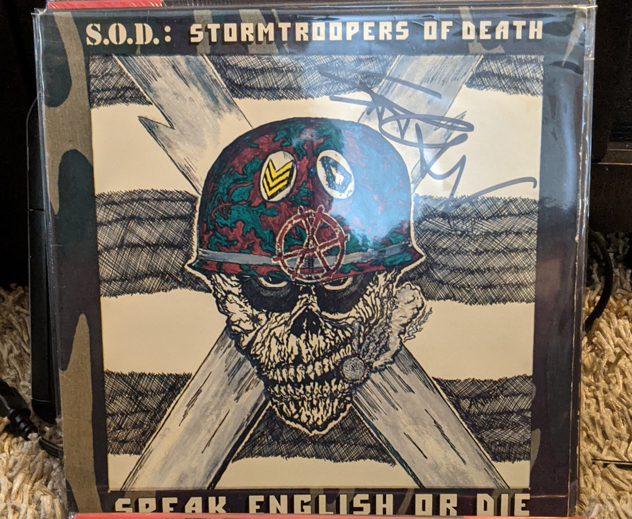 S.O.D. : Stormtroopers of Death Autographed 1st Pressing