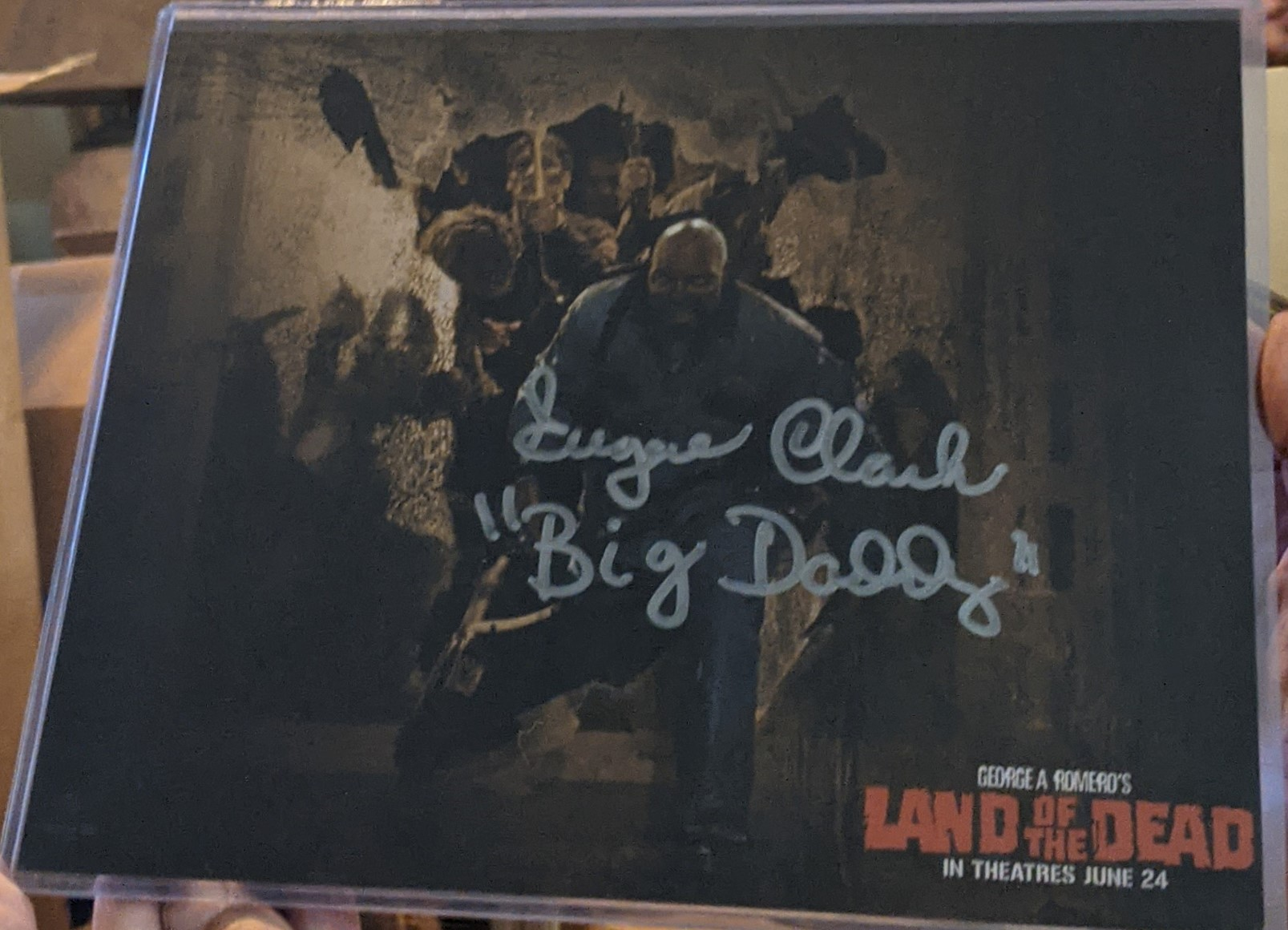 Eugene Clark LAND OF THE DEAD BIG DADDY Autographed Photo