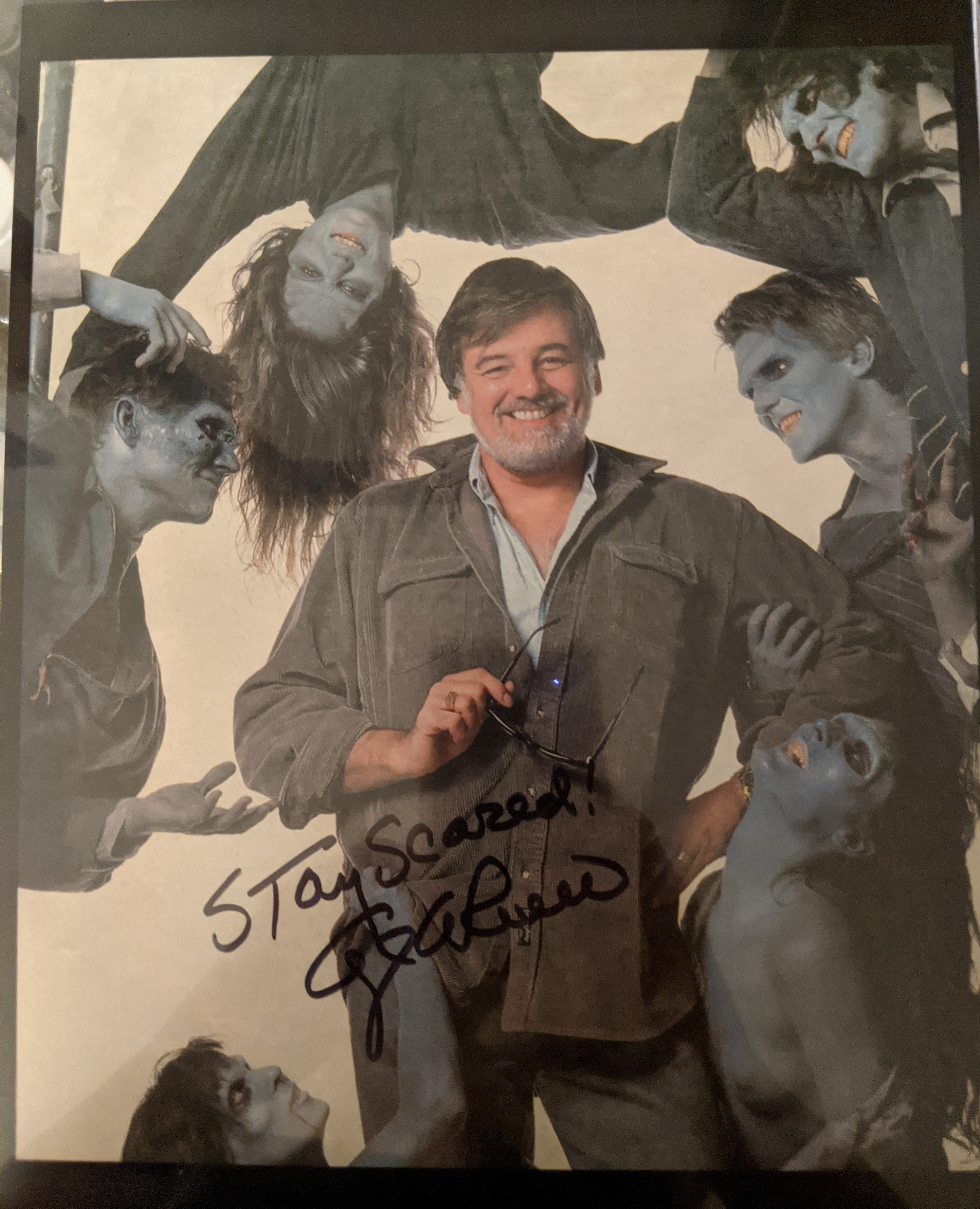 George Romero Zombies Autographed Photo