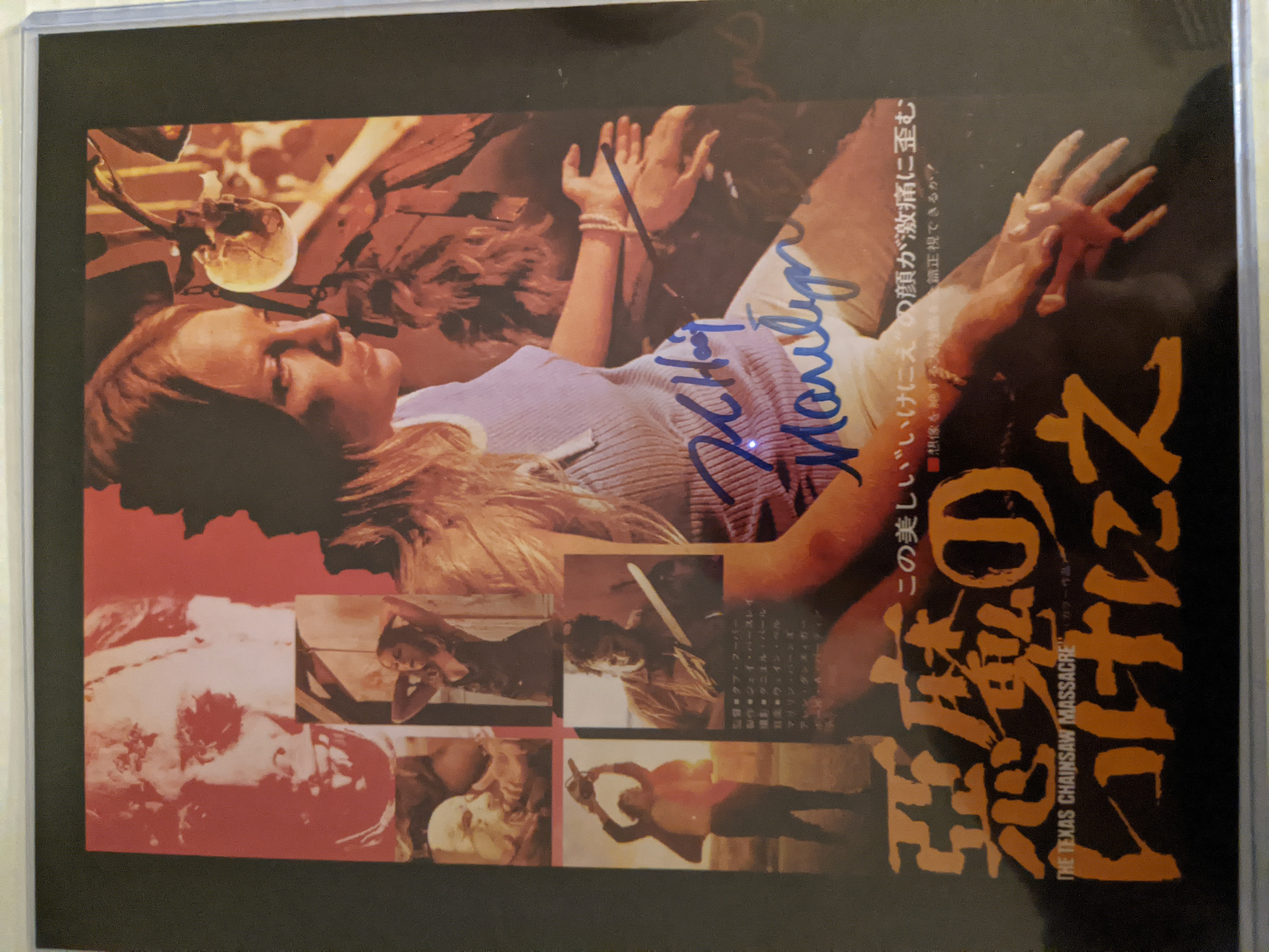 Texas Chainsaw Masacre Autographed by Tobe Hooper & Marilyn Burns
