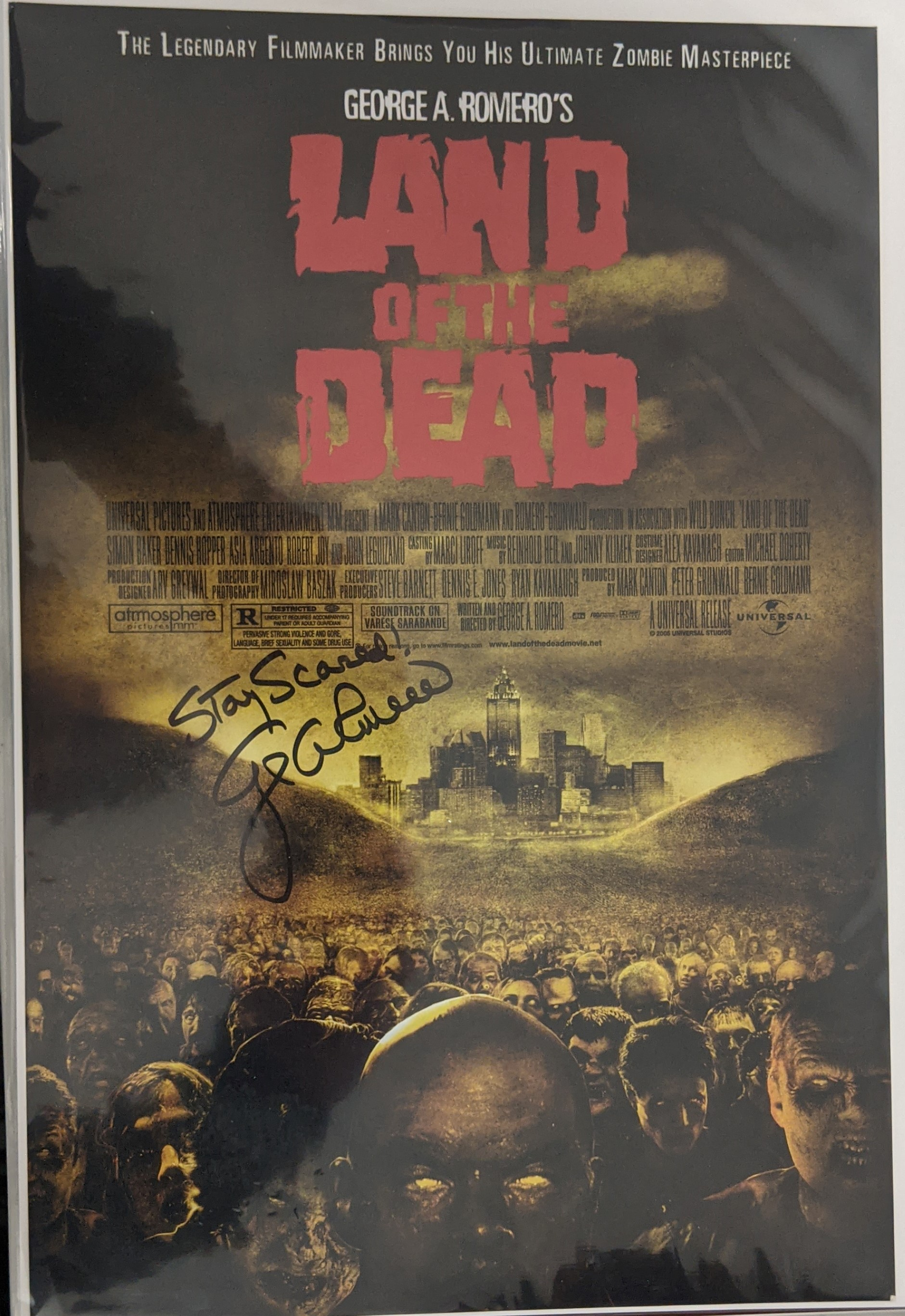 George Romero Autographed Land of the Dead Mini Poster