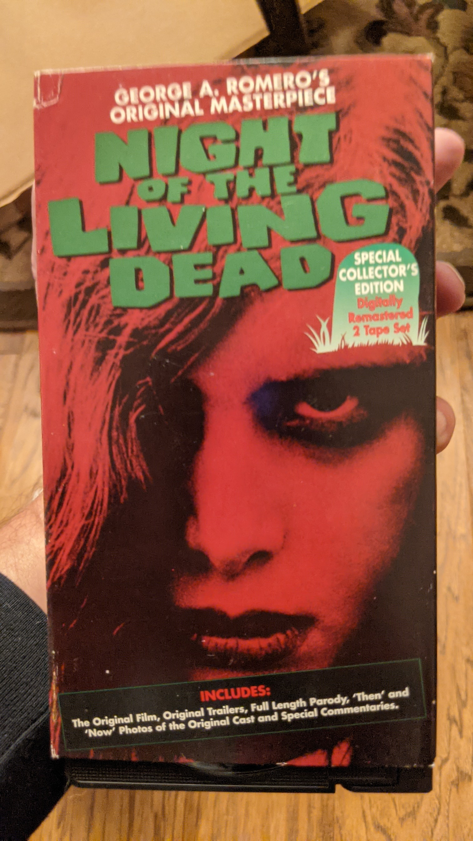 Night of the Living Dead Special Collector's Edition 2 VHS Set 1995 Anchor Bay