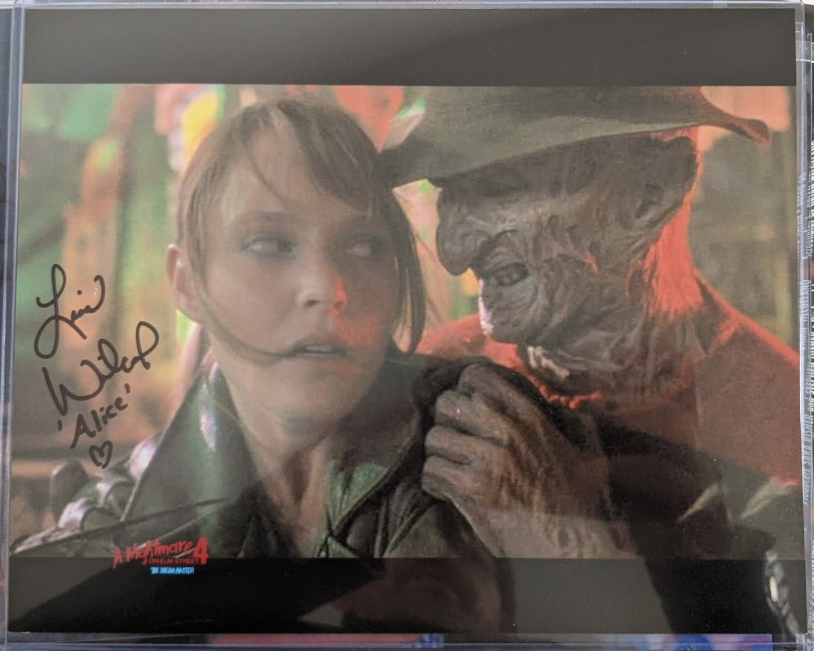 Nightmare on Elm Street 4 Photo Autographed by Lisa Wilcox