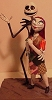 The Nightmare Before Christmas Jack and Sally - Clayguy Original Sculpture