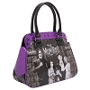 Purple Glitter Munster Family Portrait Handbag