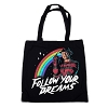 Follow Your Dreams Tote Bag Freddy Kruger Nightmare on Elm Street