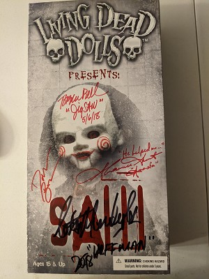 Living Dead Dolls Jigsaw / Saw Autographed x 4