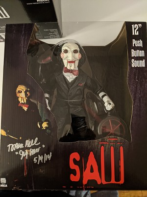 Autographed by Tobin Bell Saw 12 inch Action Figure - Riding Tricycle with Sound