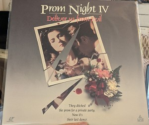 Prom Night IV Deliver us from Evil Laserdisc (Pre owned)